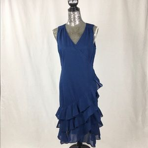 Ralph Lauren Wrap Around Blue Cotton Dress